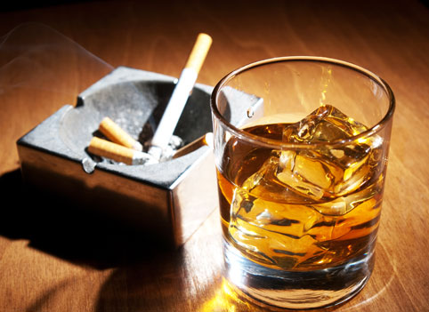alcoholism and smoking
