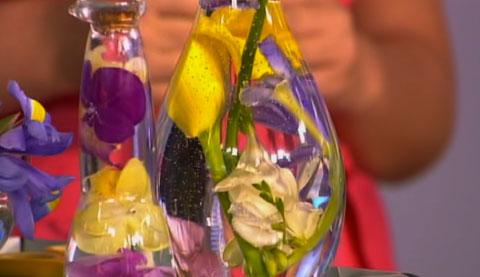 Как сделать бутылку декоративную с овощами 112